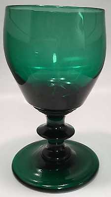 English Green Ogee Bowl Wine Glass C1820