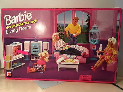 Vintage Barbie Never opened So Much To Do Living Room Playset 1995