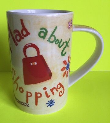 Dunoon Mug 'Mad About Shopping' Designed By Jane Heyes