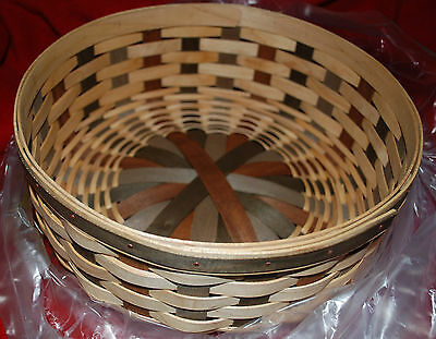 "Longaberger 11"" Round Keeping Basket Set 10938 with Lid - Brand New"