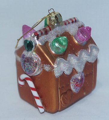 Vintage Glass Gumdrop House Christmas Ornament Susan Torrence