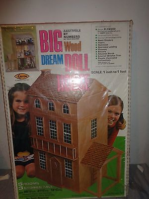 NEW 1978 Arrow Big Wood Dream Doll House Made in USA
