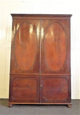 Antique early Victorian large Linen press / cupboard / wardrobe