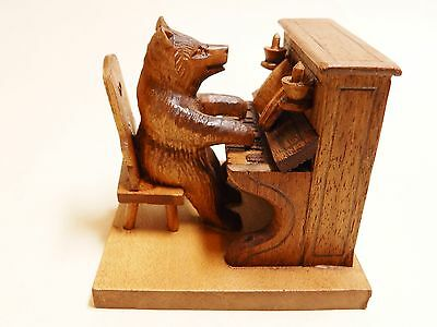 Black Forest Style Bear Playing Piano