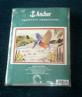 Anchor Freestyle Hand Embroidery Kit Kingfisher AE84584
