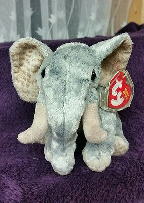 Bahati Elephant Beanie Baby  - TY Store WWF Exclusive