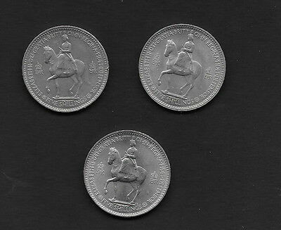 1953. Crown. (lot of 5)