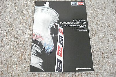 2007 CHELSEA v MANCHESTER UNITED  FA CUP FINAL PROGRAMME