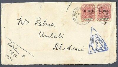 South Africa, 1901 Boer War censored cover front to Rhodesia    -BB88