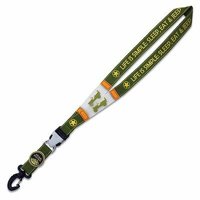 """CH4X4 Jeep """"LIFE IS SIMPLE"""" Lanyard"""