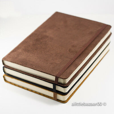 A5 & A6 Suede Effect Premium Plain Notebook Sketchbook Journal Project Book