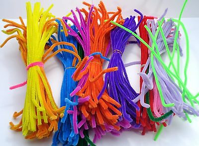 Bundle Job Lot of Craft Stems Chenille Pipe Cleaners -30cm(12'') Length