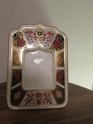Royal Crown Derby 1st Quality Old Imari 1128 Photograph Frame 18cm Tall
