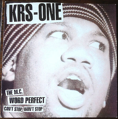 """KRS-One – Can't Stop, Won't Stop / The MC / Word Perfect 12"""" 1996 UNPLAYED!"""