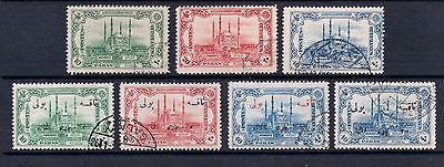 1913 Stamps of Turkey Used sets with and without overprint CV £35