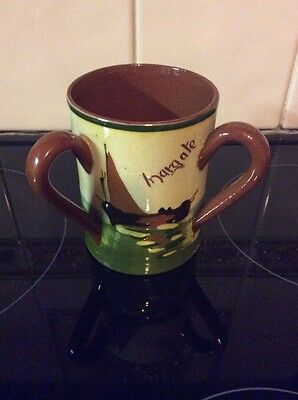"""VINTAGE TORQUAY WARE LARGE TYG """"MARGATE"""" A Kindness Is Never Lost"""