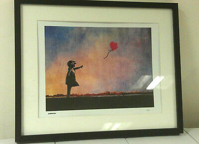 Banksy Limited Edition Framed Print Balloon Girl Print Brand New