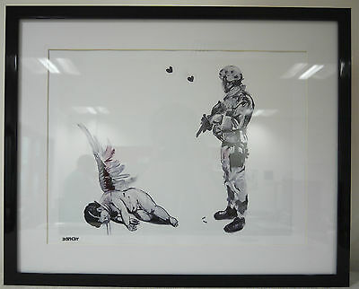Banksy Limited Edition Framed Print Fallen Angel Print Brand New