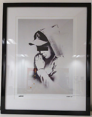 Banksy Print Limited Edition Framed Forgive Us Brand New Latest Images