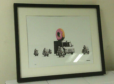 Banksy Limited Edition Framed Print Doughnut Print Brand New