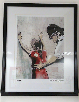 Banksy Limited Edition Framed Print Stop And Search Brand New Latest Images
