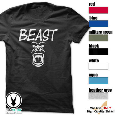 BEAST Gorilla Mode Shirt Workout Gym BodyBuilding Weight Lifting MMA c93 Art-1