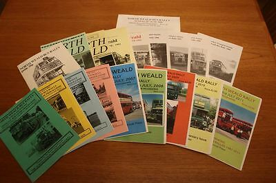 North Weald Bus Rally Programmes (x19)