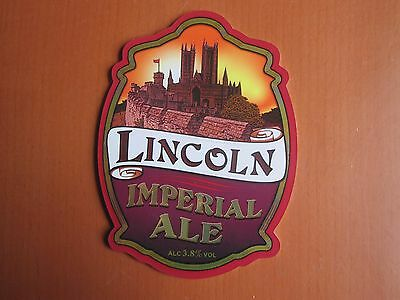 Pump Clip - Lincoln Imperial Ale, Wentworth Brewery, Rotherham, S. Yorkshire