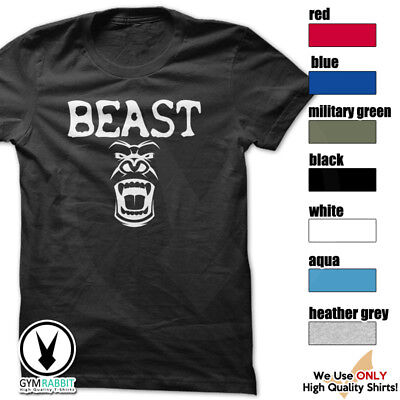BEAST Gorilla Mode Shirt Workout Gym BodyBuilding Weight Lifting c93 Art-2
