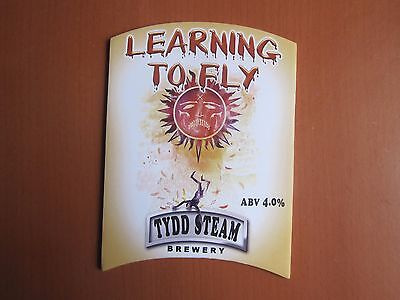 Pump Clip - Learning To Fly, Tydd Steam Brewery, Tydd St Giles, Cambridgeshire