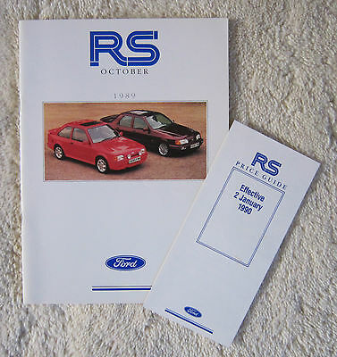 Ford RS Brochure Escort RS Turbo Sierra Sapphire Cosworth Plus Price List