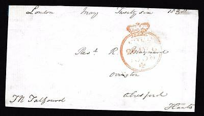 GB 1838 Free Frank Front signed Thos TALFOURD MP for Borough of Reading