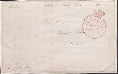 GB 1830 Free Frank Front signed S GROVE PRICE MP for Sandwich