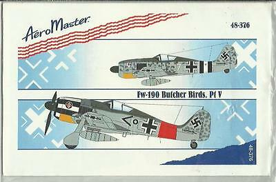 Aeromaster Decals 48-376 Focke Wulf Fw190A decals in 1:48 Scale