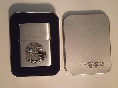 Zippo Lighter Dallas Cowboys Chrome Brushed NFL Officially Licensed