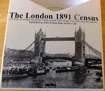 London 1891 Census Images RG12 piece numbers 1 to 541 - 38 Cds