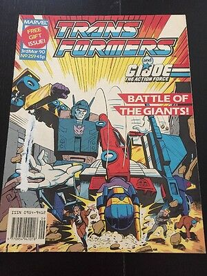 Marvel UK Transformers G1 Issue Number 259 March 1990