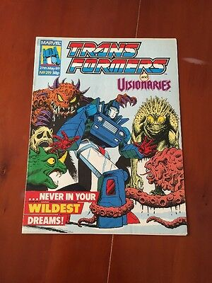 Marvel UK Transformers G1 Issue Number 219 May 1989