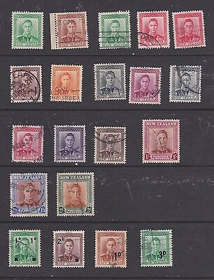 Stamps New Zealand used George VI selection