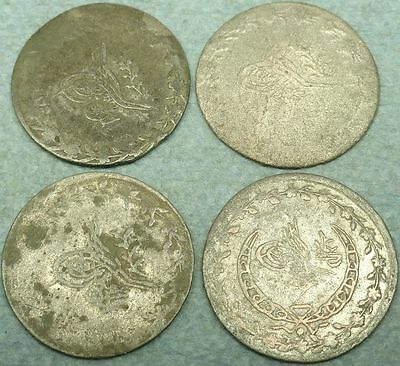 Lot Of 4 Ottoman Silver Coins