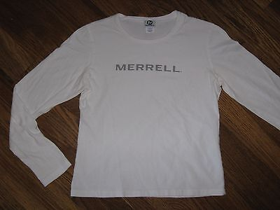 MERRELL~ Misses~ Womens~ White~ L/S~ T- Shirt~ Top~ Size Small (4-6)   EXC