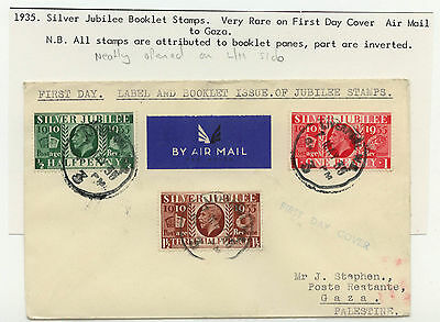 FIRST DAY COVER KGV 1935 Silver Jubilee Booklet Stamps  May 7th Liverpool pmk