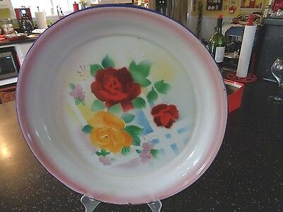 ENAMELWARE TRAY  VINTAGE  16 inch