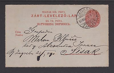 Prepaid postcard Hungary 1891 used