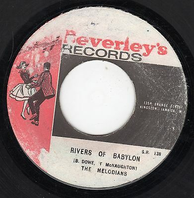 """"""" RIVERS OF BABYLON. """" the melodians. BEVERLEY'S RECORDS 7in 1970."""