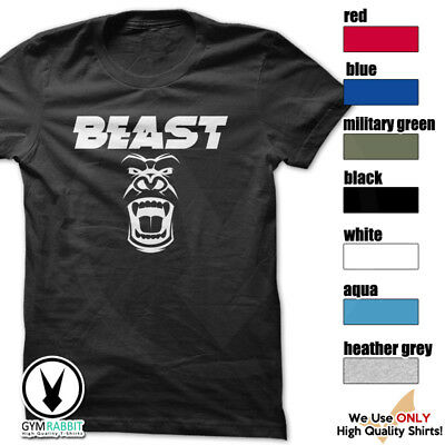 BEAST Gorilla Mode Shirt Workout Gym BodyBuilding Weight Lifting MMA c93 Art-9