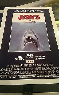 JAWS reproduction A3 print superb quality heavy canvas paper