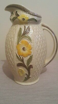 PRETTY FLOWERS Jacobean H J Wood VINTAGE JUG - rare pattern Shabby Chic