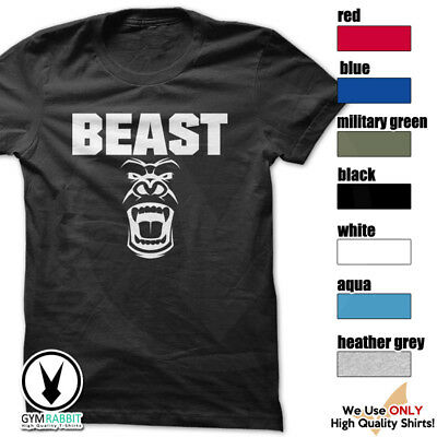 BEAST Gorilla Mode Shirt Workout Gym BodyBuilding Weight Lifting c93 Art-13