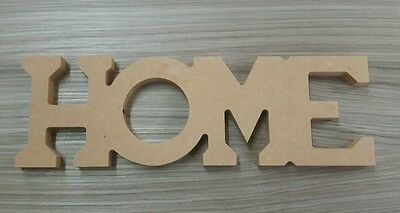 Freestanding Home Letters Mdf Wooden Sign 100Mm High Unpainted Craft
